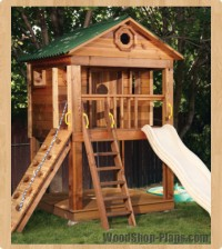 kids playhouse woodworking plans