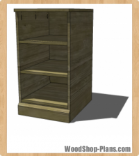 media bookcase woodworking plans