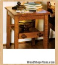 mission side table woodworking plans