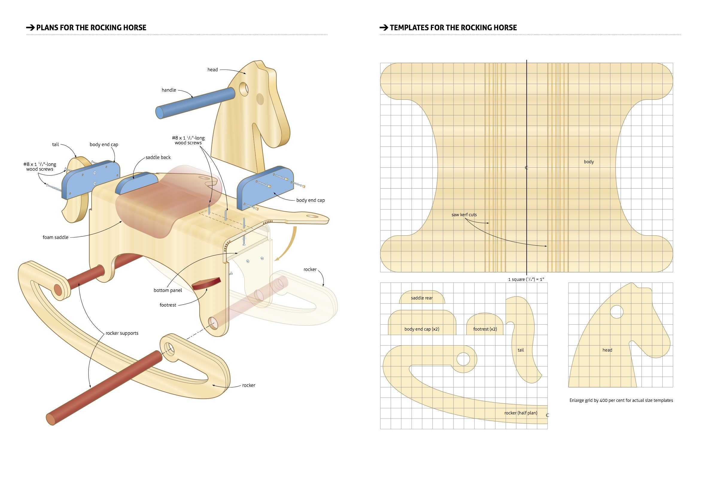 Rocking Horse Woodworking Plans Woodshop Plans