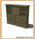 secretary chest woodworking plans