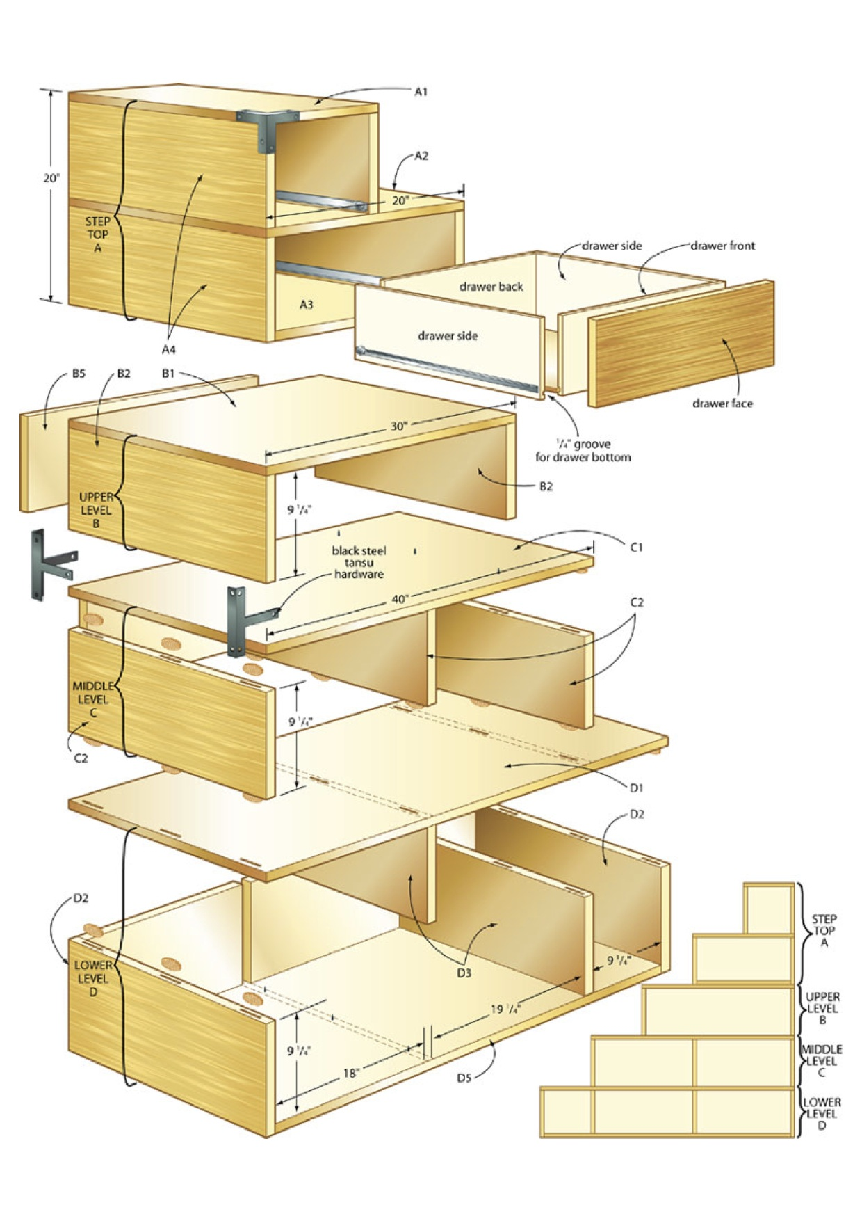 tansu chest woodworking plans - WoodShop Plans