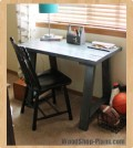 trestle desk woodworking plans