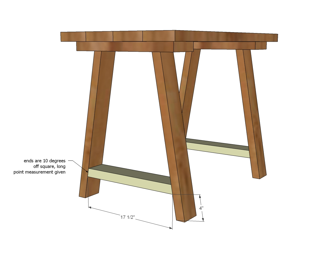 trestle desk woodworking plans  WoodShop Plans