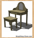 vanity and bench woodworking plans