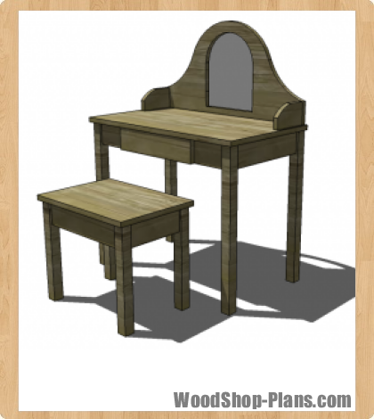 Vanity and bench woodworking plans woodshop plans - Bathroom vanity plans woodworking ...