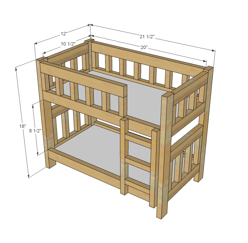 These wooden hand multicoloured bunk beds are wooden doll bunk bed ...
