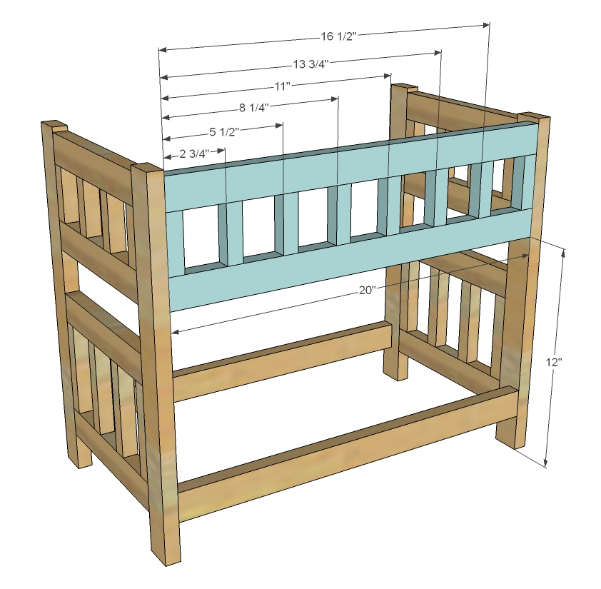 Doll Bunk Bed Woodworking Plans step 4