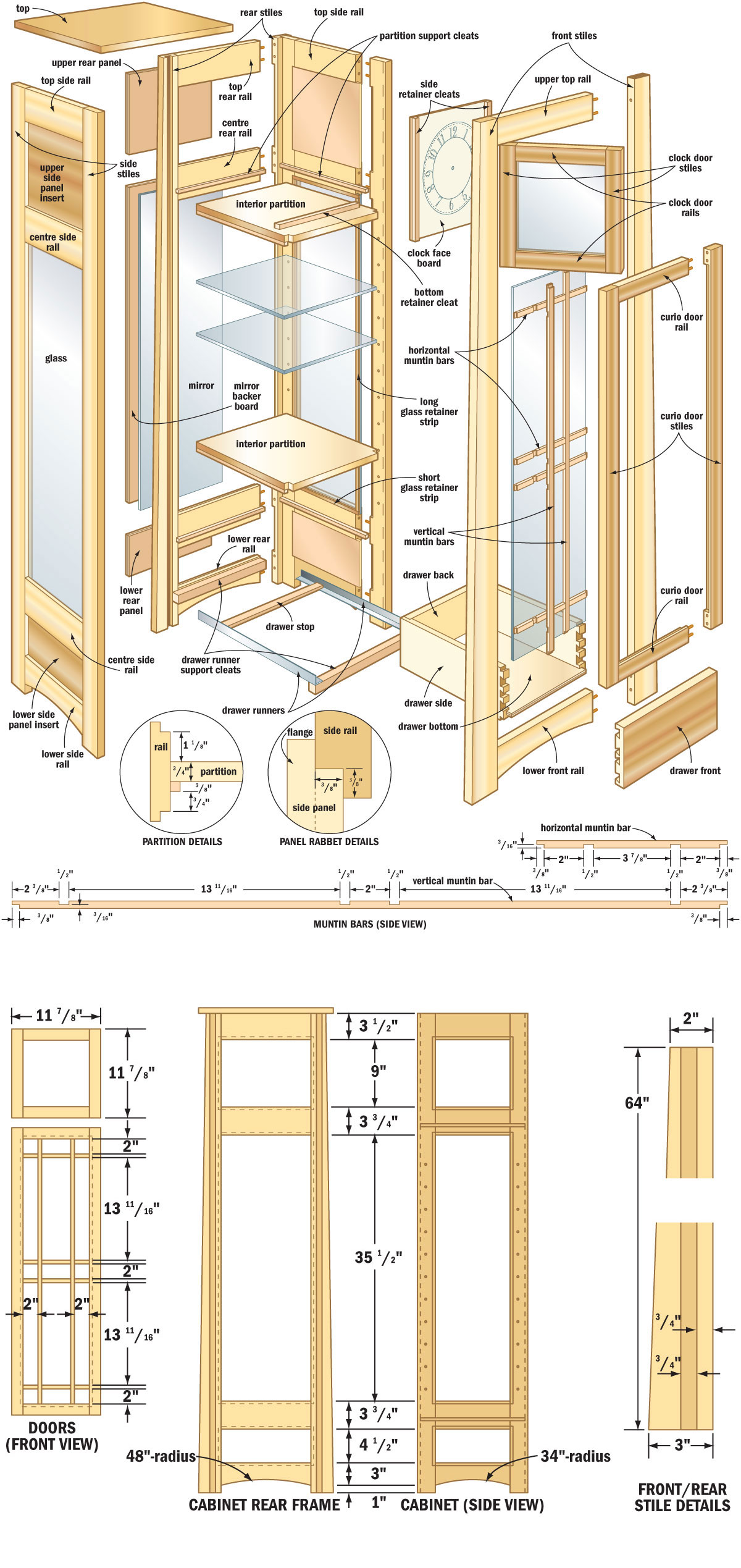 free woodworking plans curio cabinets | Quick Woodworking ...