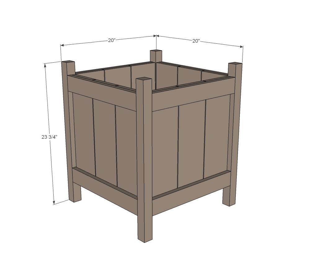 Cedar planter woodworking plans 2