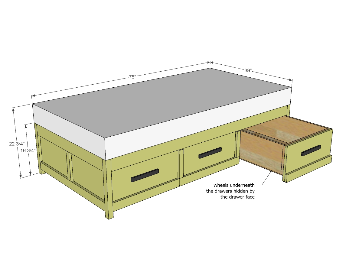 daybed with storage woodworking plans - WoodShop Plans