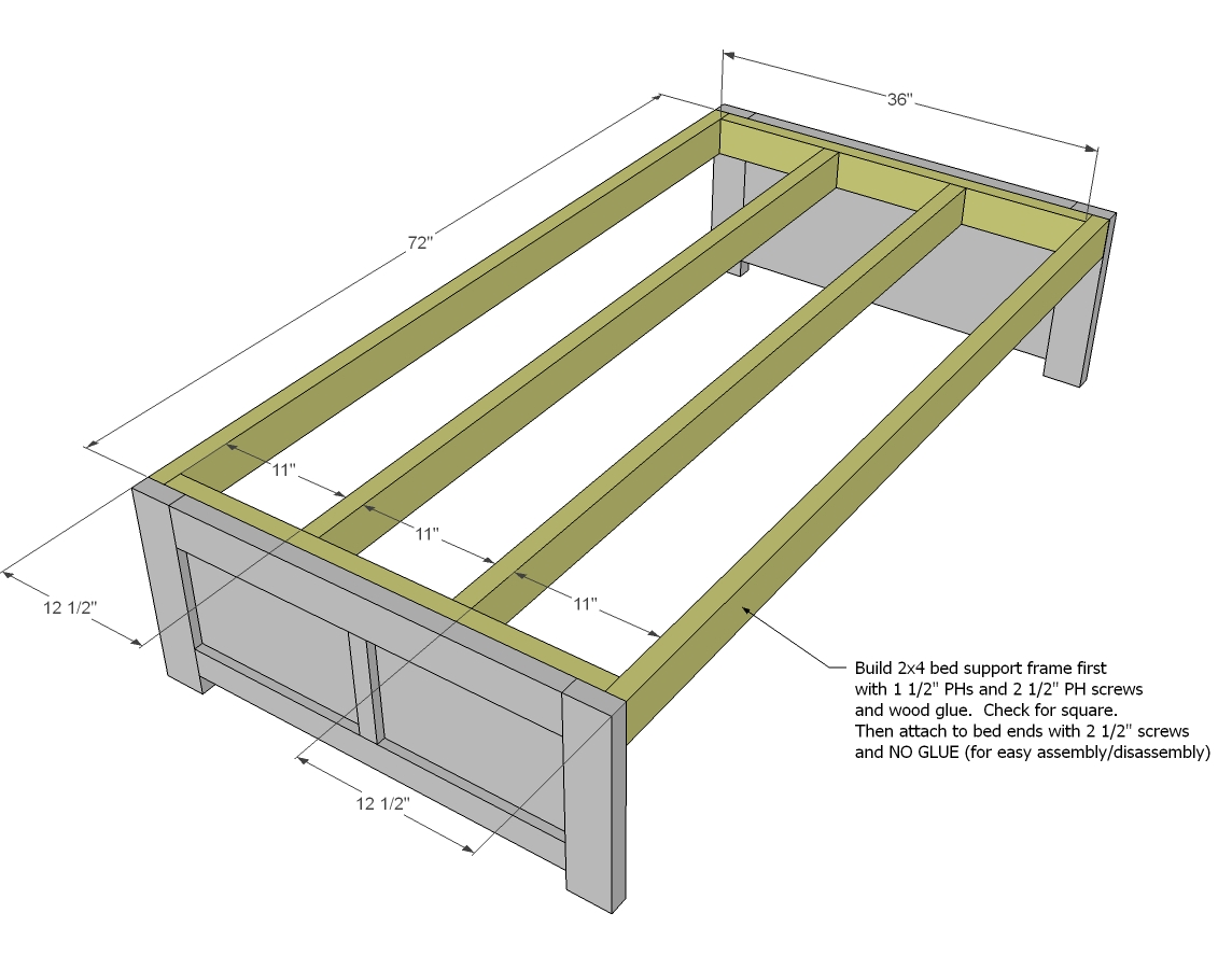 free woodworking plans bed with storage | DIY Woodworking Projects