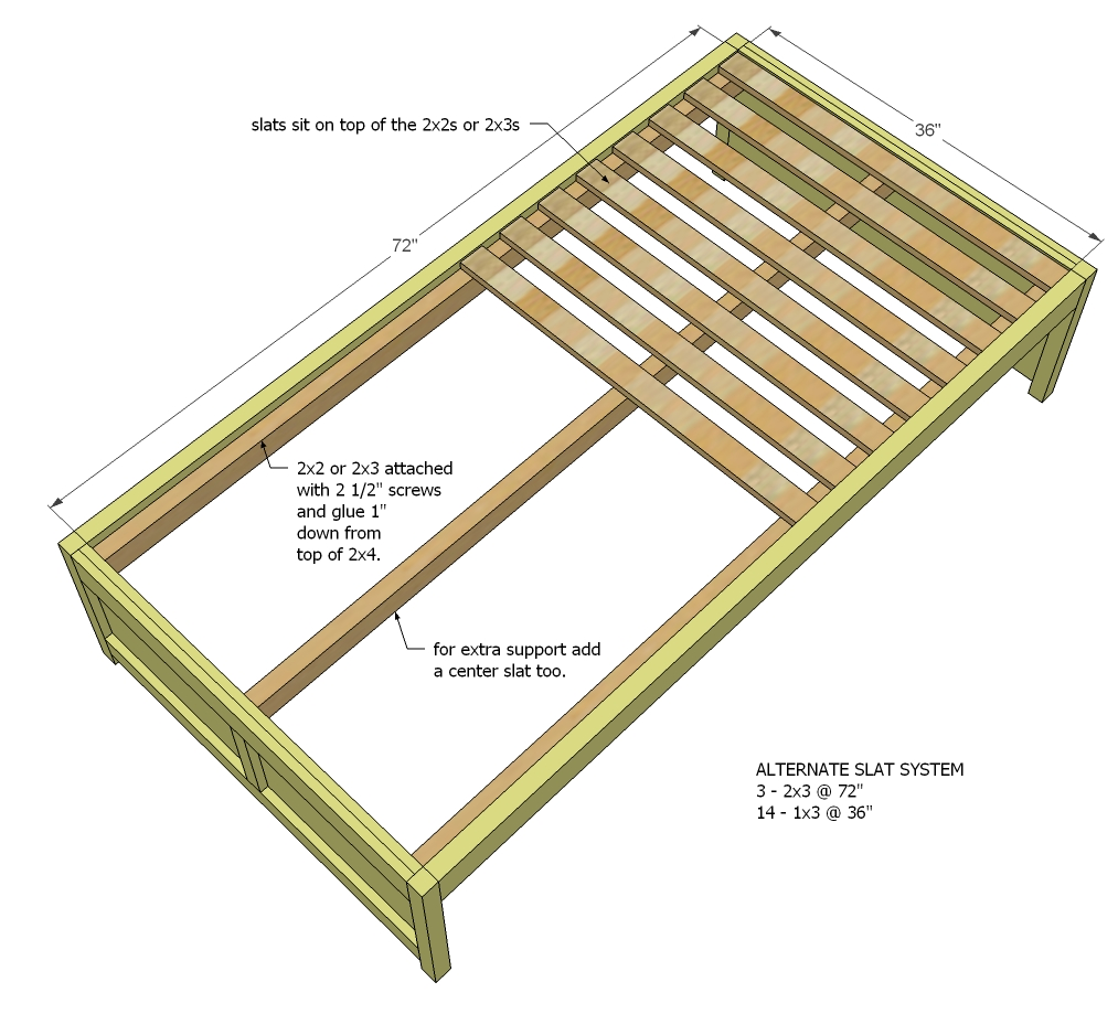 Daybed with storage woodworking plans woodshop plans for A frame blueprints