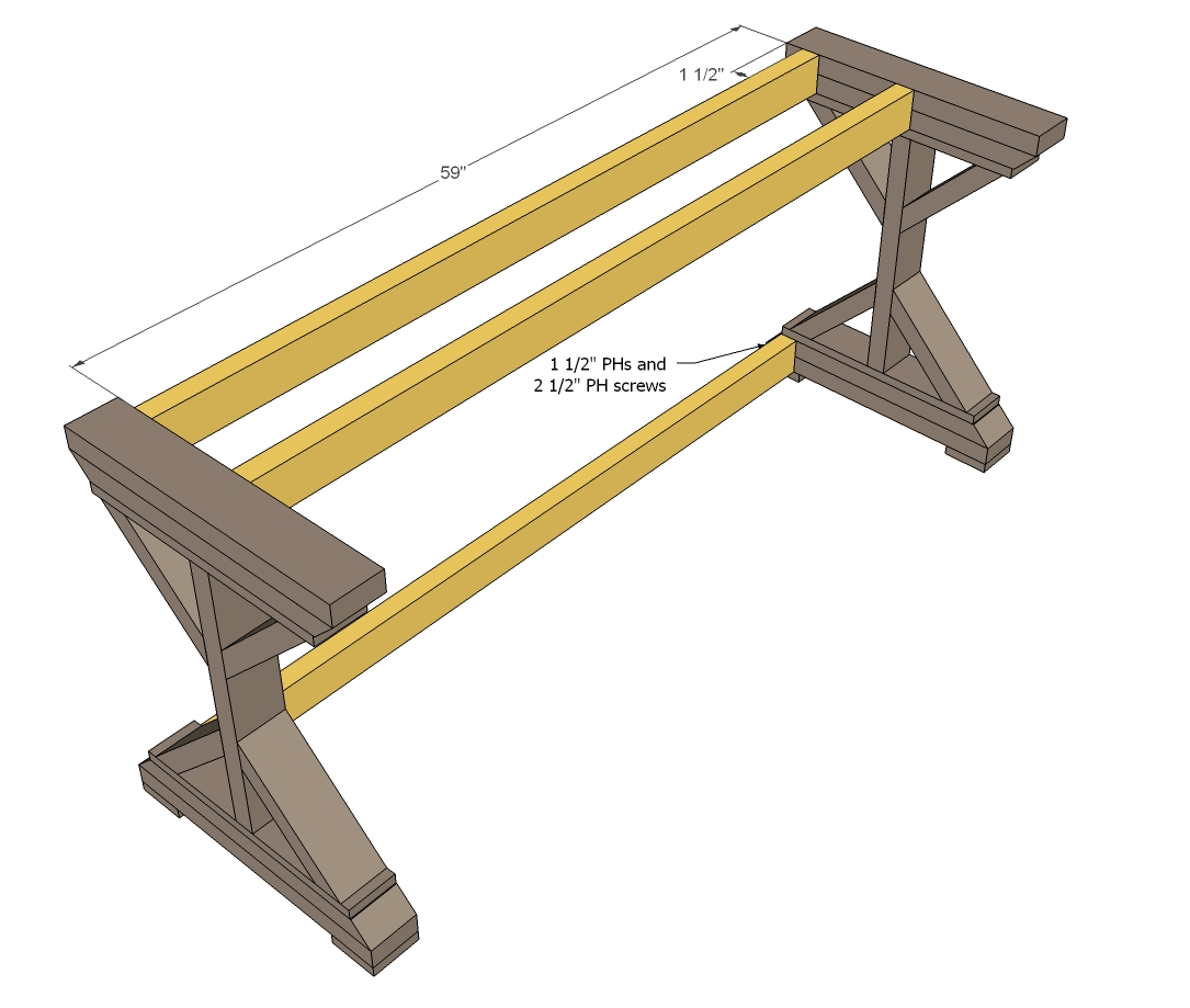 Excellent Trestle Desk Woodworking Plans  WoodShop Plans