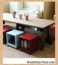 double trestle play table woodworking plans
