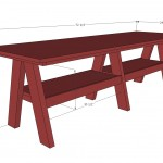 double trestle play table woodworking plans 2
