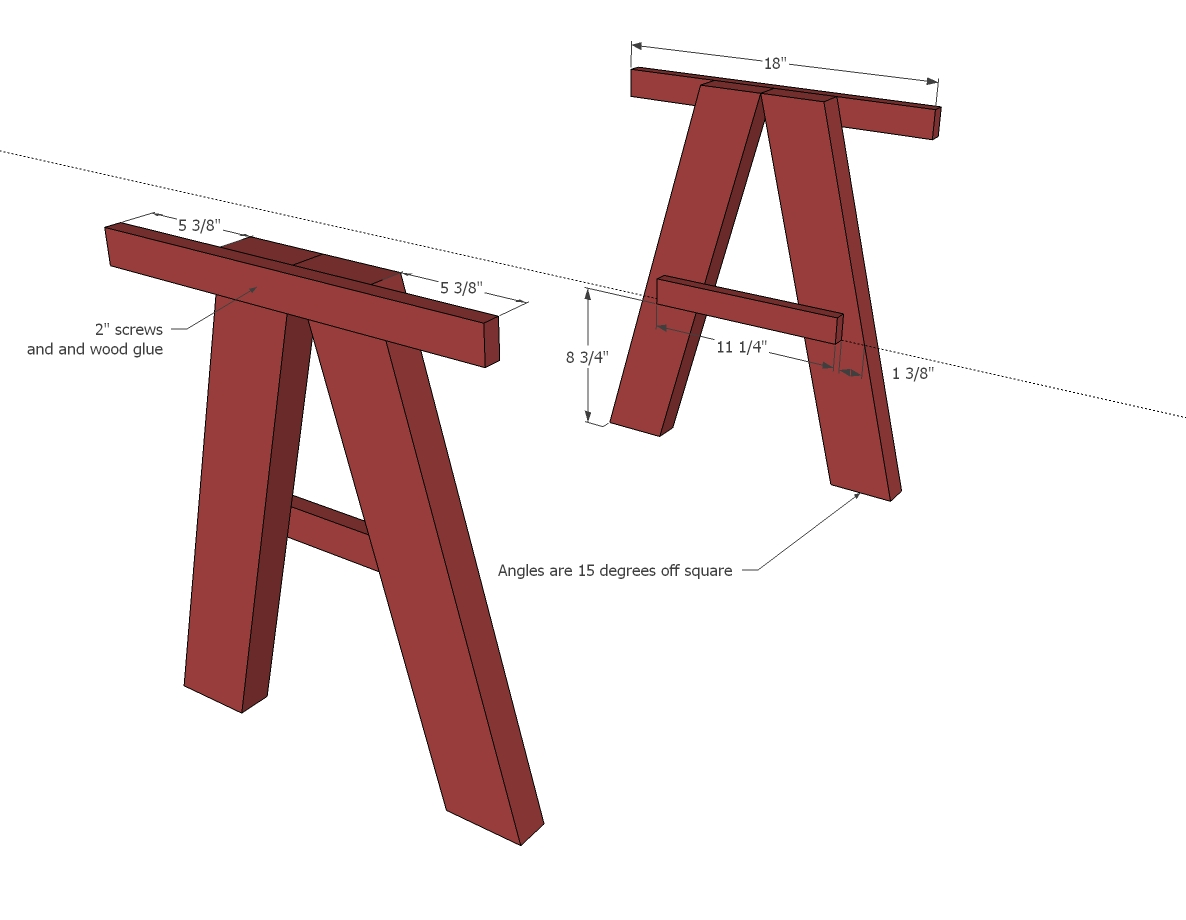 Free Trestle Table Plans Woodworking - Image Mag