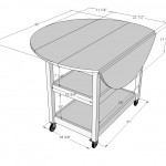 drop leaf storage table woodworking plans 2