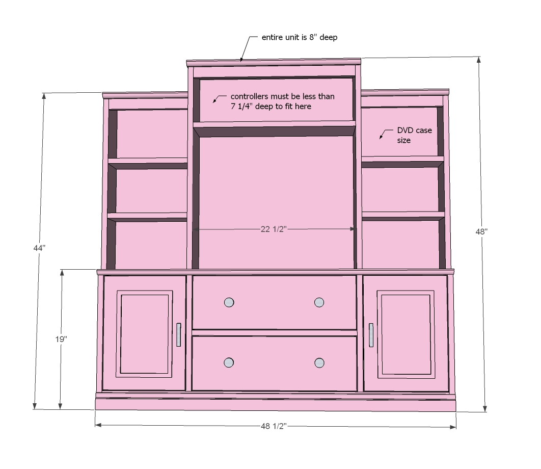 entertainment furniture plans