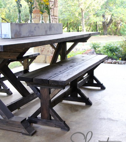 farmhouse bench woodworking plans