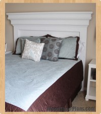 mantle headboard woodworking plans