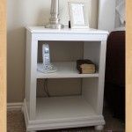 open shelf nightstand woodworking plans