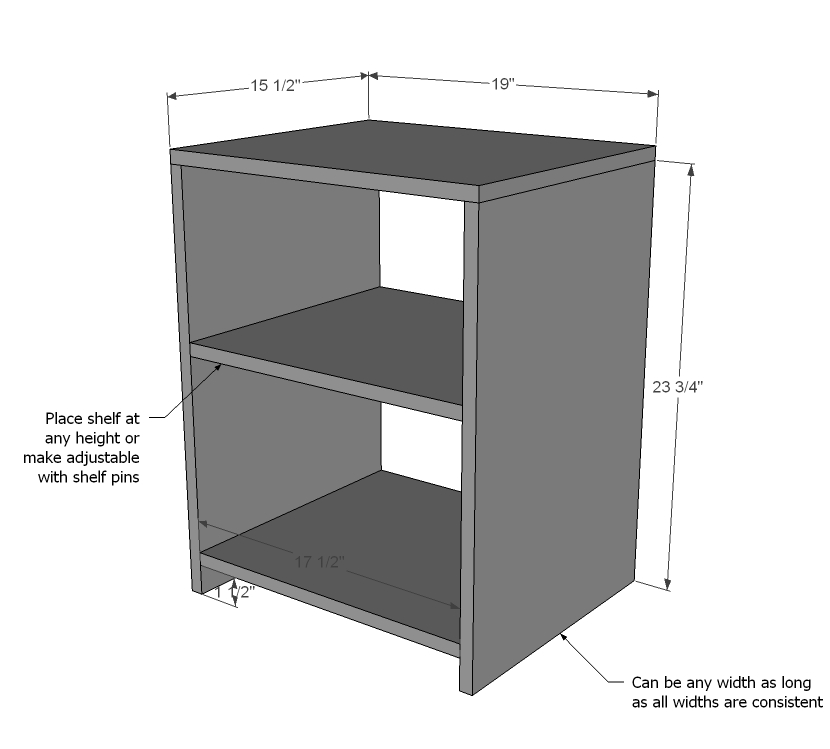 Wood Nightstand Wood Project Plans PDF Plans