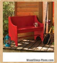 rustic bench woodworking plans