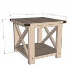 rustic end table woodworking plans 2
