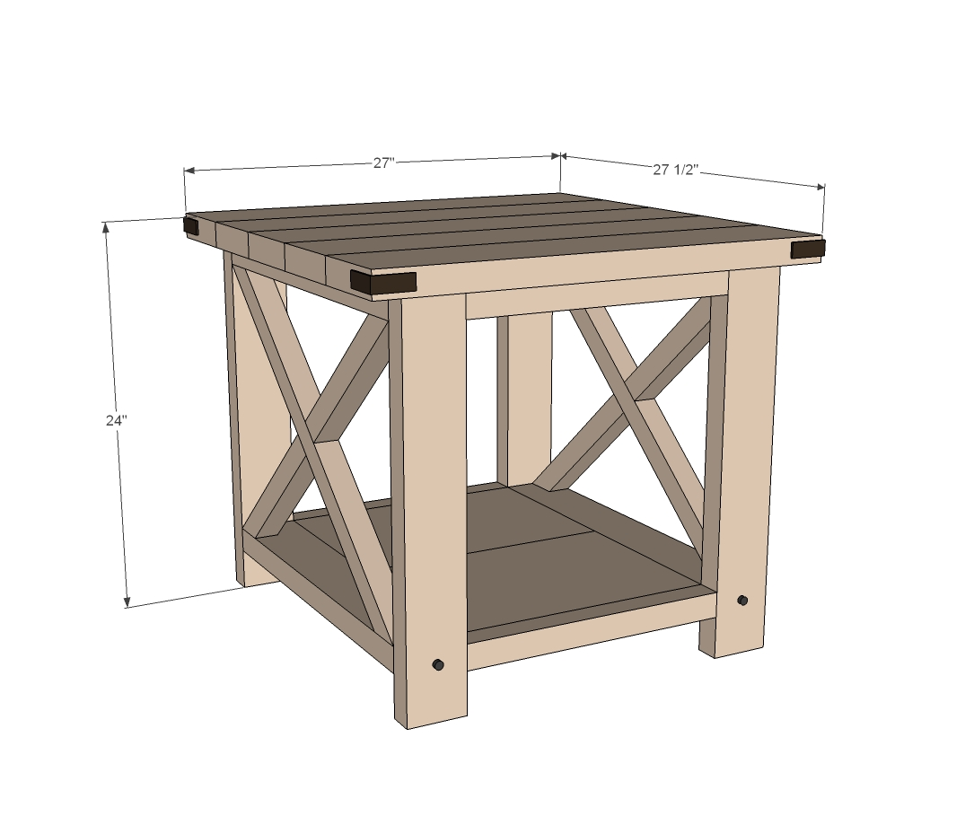 Rustic end table woodworking plans woodshop plans for Side table plans