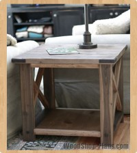 rustic end table woodworking plans