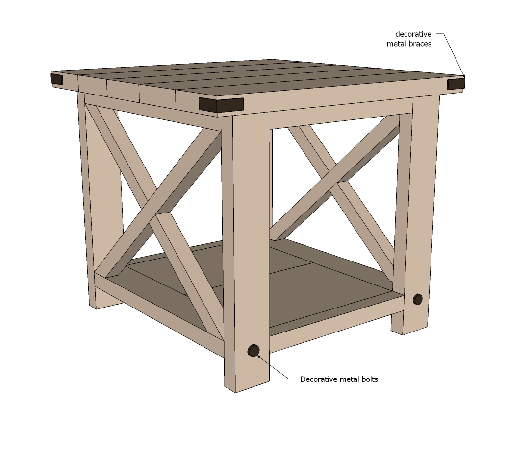 Rustic end table woodworking plans woodshop plans for Latest side table designs