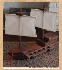 toy pirate ship woodworking plans