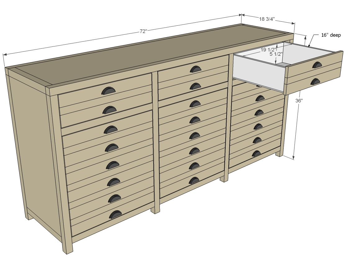 Triple Console Cabinet Woodworking Plans Woodshop Plans
