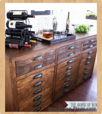 triple console cabinet woodworking plans