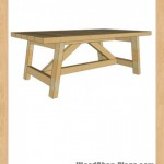 truss coffee table woodworking plans