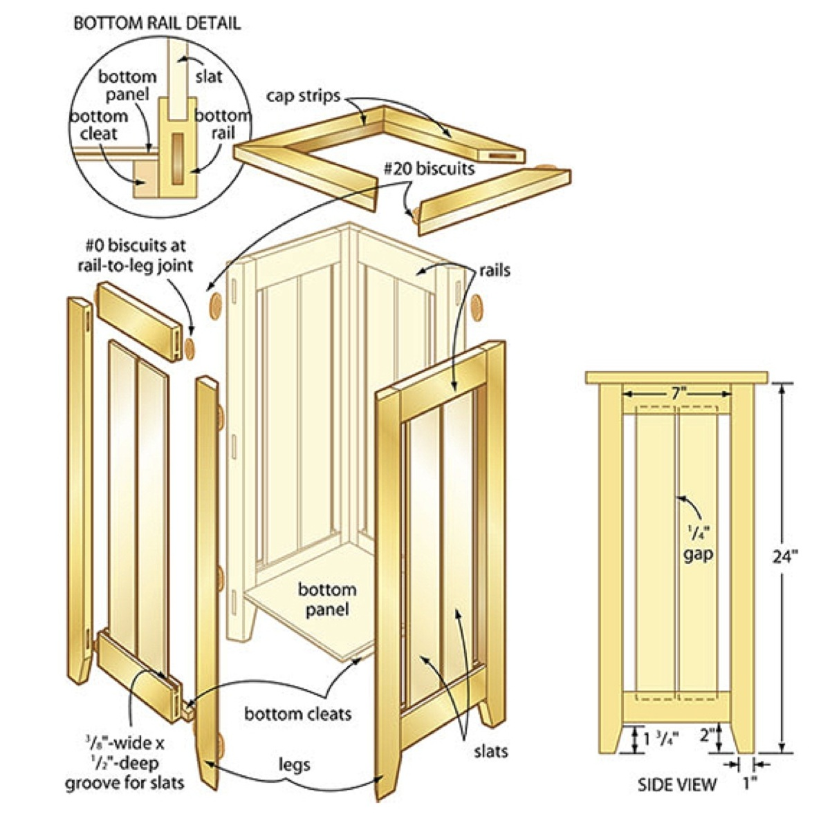 Umbrella Stand Designs : Umbrella stand woodworking plans woodshop