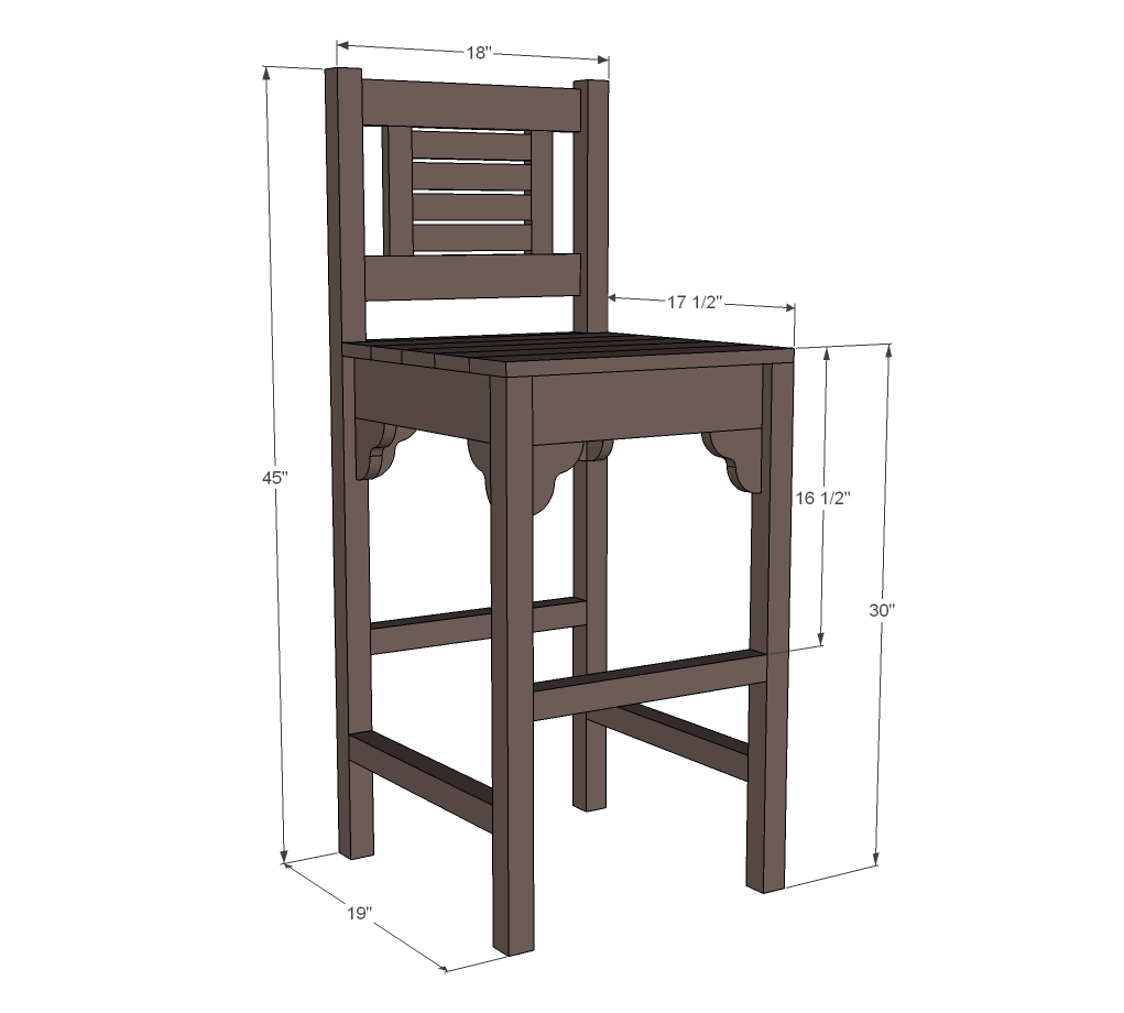 Woodworking plans bar stools woodproject
