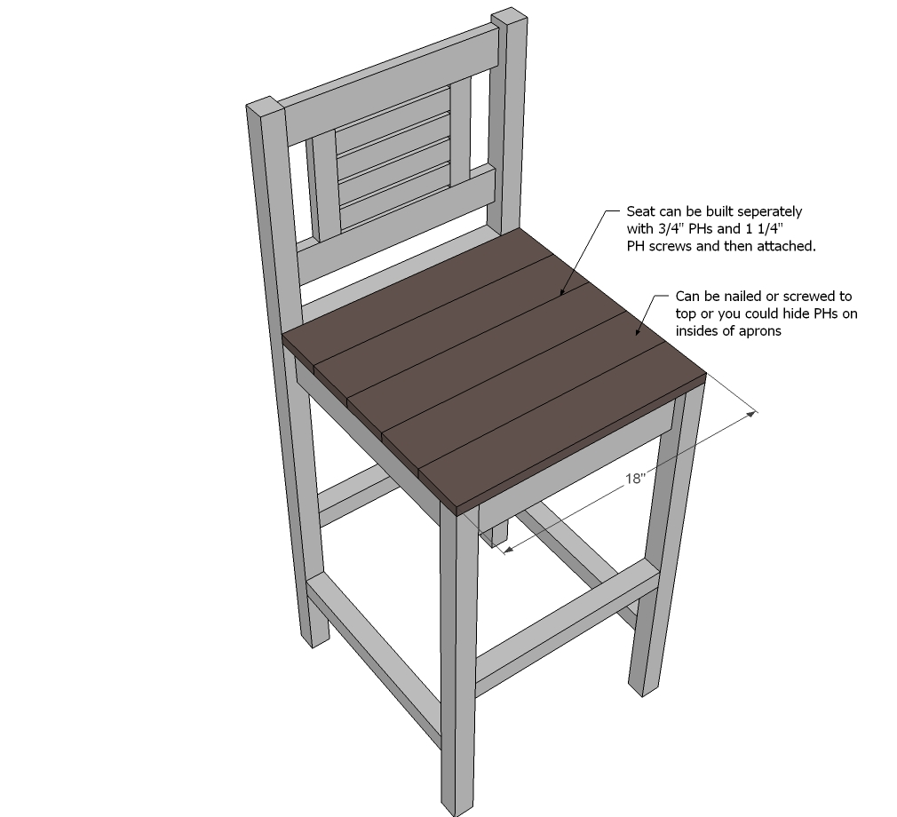 Bar Stool Building Plans