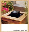 Tabletop fountain woodworking plans