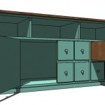 apothecary console woodworking plans 3