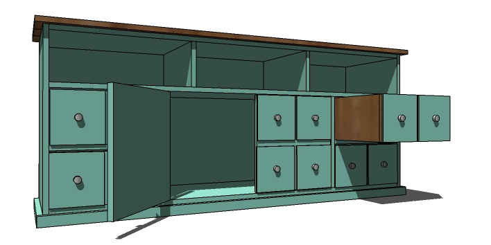 Apothecary Console Woodworking Plans