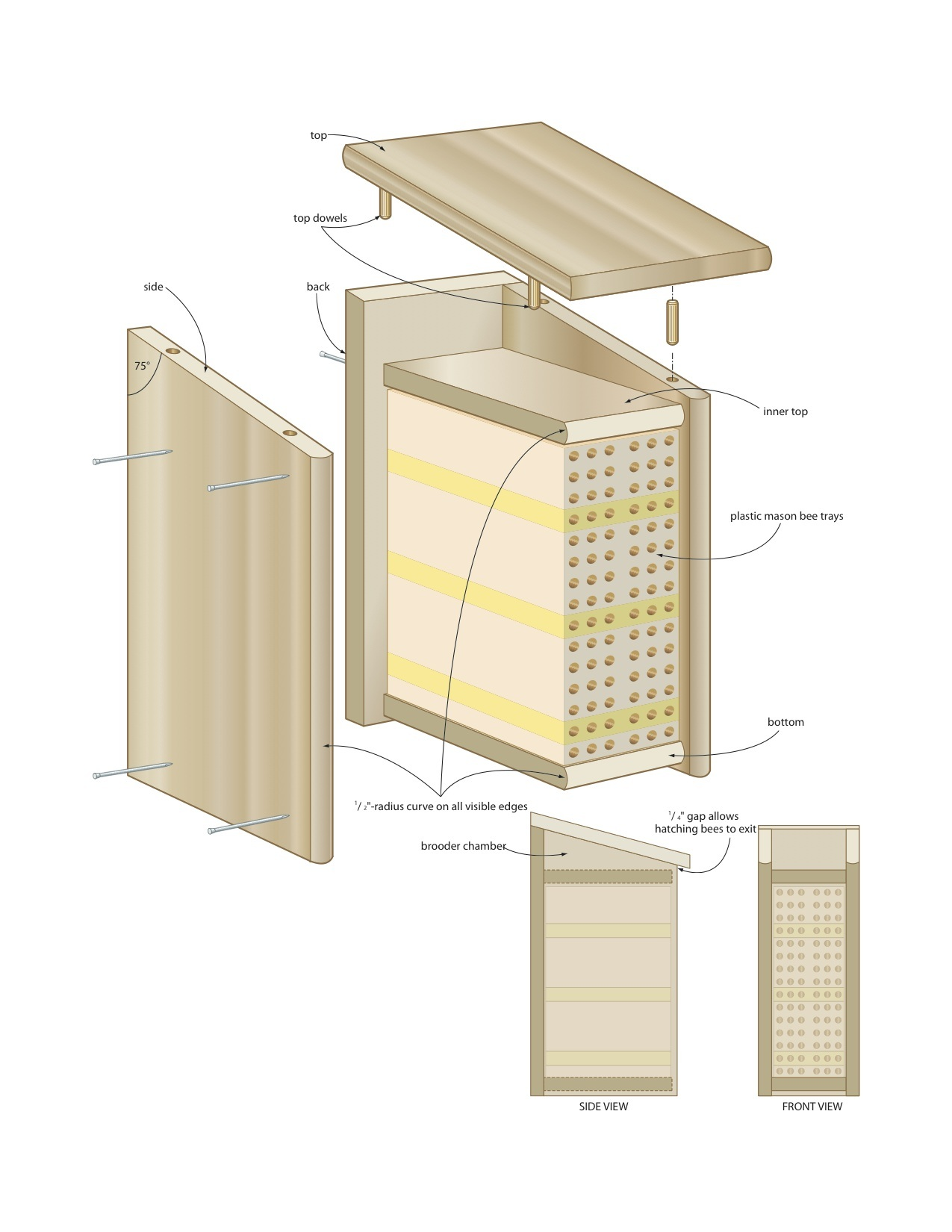 Bee Boxes Plans DIY Free Download Toboggan Blueprints