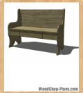 bench with storage woodworking plans