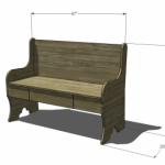 bench with storage woodworking plans 2