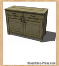 buffet with drop down TV woodworking plans