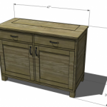 buffet with drop down TV woodworking plans 2