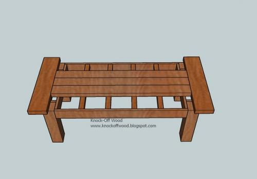 Small wood projects coffee table woodworking plans step 09 for Small coffee table plans