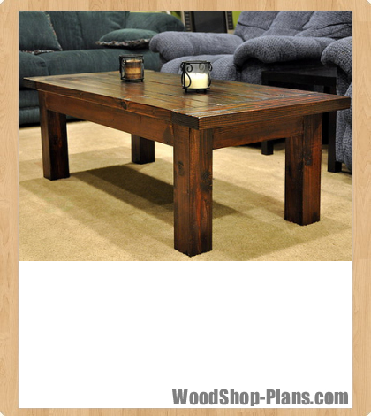 coffee table woodworking plans woodshop plans. Black Bedroom Furniture Sets. Home Design Ideas