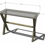 console table woodworking plans 2